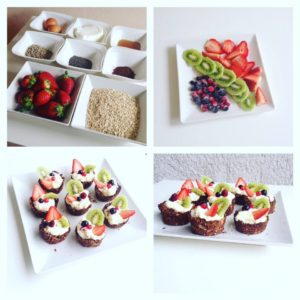 ovocné dortíky s tvarohem